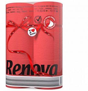 Renova Papier Hygiénique Rouge (6 Rouleaux) de la marque Renova image 0 produit