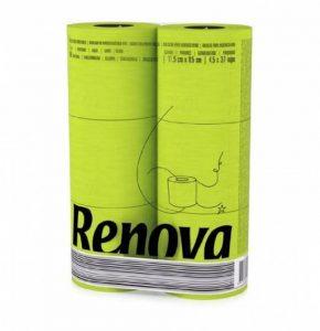 Renova Papier Hygiénique Vert (6 Rouleaux) de la marque Rénova image 0 produit