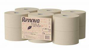 Renova papier toilette jumbo love & Action, Beige- Lot de 12 de la marque Renova image 0 produit
