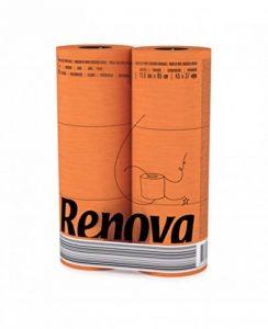 RENOVA RNVJ0002OR Papier Hygiénique Orange (6 Rouleaux), Rolls de la marque Rénova image 0 produit