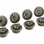 Roulettes pour panier inférieur dans lave-vaisselle | Contenu:lot de 8 | Idéales pour Siemens, Bosch, Neff, etc. | de McFilter de la marque McFilter image 1 produit