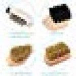 Set brosses à chaussures - Kit 8 outils d'entretien - 6x brosse 1x gomme 1x tissu de polissage - Nettoyage cuir daim suede - Bottes talons de la marque Navaris image 2 produit
