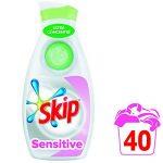 Skip Ultimate Lessive Liquide Concentrée Sensitive Hypoallergénique, Spécial Bébés & Peaux Sensibles 80 Lavages (Lot de 2x40 Lavages) de la marque Skip image 3 produit