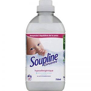 Soupline - Adoucissant textile au lait d'amande douce, hypoallergénique - Le flacon de 750ml - (pour la quantité plus que 1 nous vous remboursons le port supplémentaire) de la marque Soupline image 0 produit