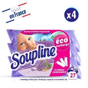 Soupline Lavande, Adoucissant/Assouplissant, éco-recharge à diluer, 3x200ml, en complément de votre lessive - lot de 4 de la marque Soupline image 0 produit