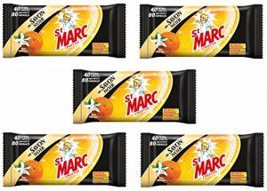 St Marc Pack de 40 Lingettes Dégraissantes Cuisine Savon Noir - Lot de 5 de la marque St-Marc image 0 produit