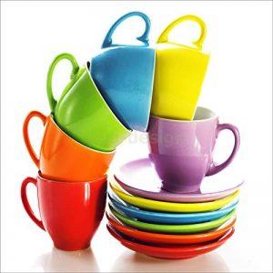 Sticker Cuisine Lave Vaisselle Tasses de Couleurs 60x60cm SLV1207 (Fond Blanc) de la marque PPA-DESIGN image 0 produit