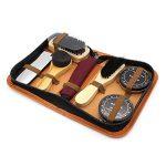 Subtop 7 Pièces Kits de cirage, Kit pour Cirage de Chaussures avec étui élégant en cuir PU, Kit pour Cirage de Chaussures de Voyage de la marque Subtop image 2 produit