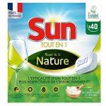 Sun Tout-En-1 Tablettes Lave-Vaisselle Ecologique Pouvoir de la Nature Eco-Label 40 Lavages de la marque Sun image 1 produit