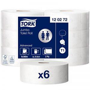Tork 120272 Papier toilette Jumbo Advanced / Compatible avec le système T1 / 2 plis / lot de 6 rouleaux (6 x 1800 feuilles) de la marque Tork image 0 produit