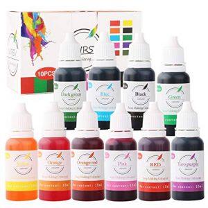 WIRSV Pigment Liquide de Savon, 15ml x 10 Couleurs Teinture de Couleur, Colorants de Couleur de Bombe de Bain, Colorant de Savon pigmentaire pour résine époxy, Peinture -150 ML de la marque WIRSV image 0 produit